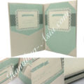 ivory wedding book fold invitation