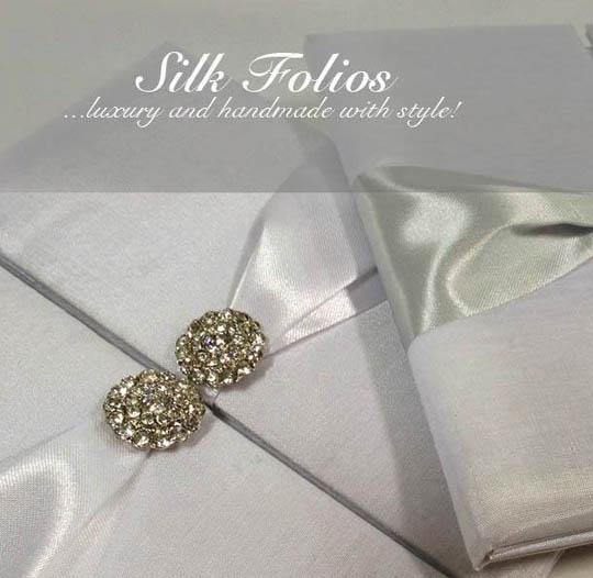Luxury white wedding invitation