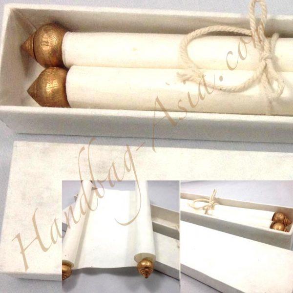 box & scroll invitation