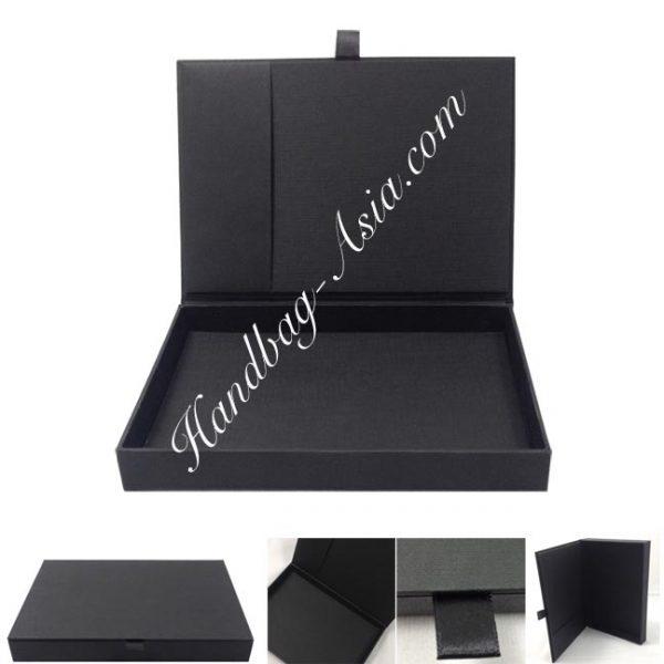 Black high-end paper invitation box