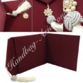 Tassel Embellished Burgundy Silk Envelope