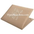 Cream Monogram Embroidered Wedding Book-Fold Invitation