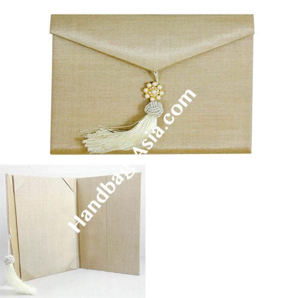 luxury wedding envelope with tassel