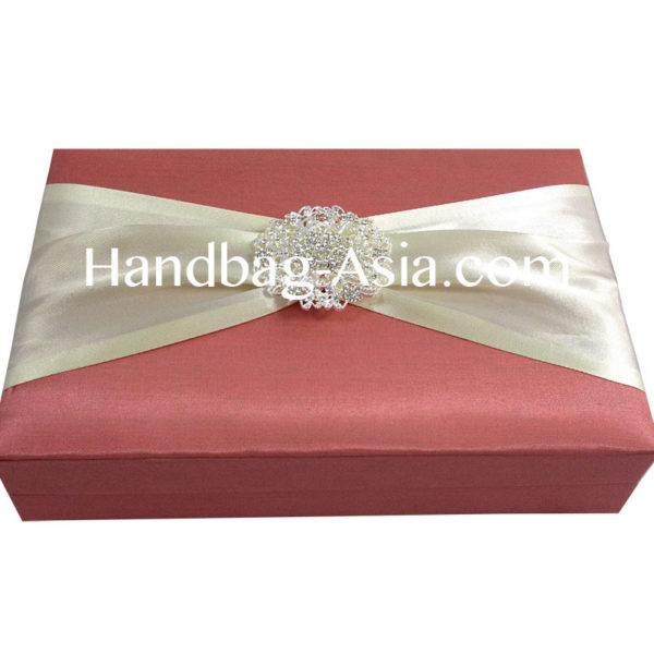wedding box with large brooch