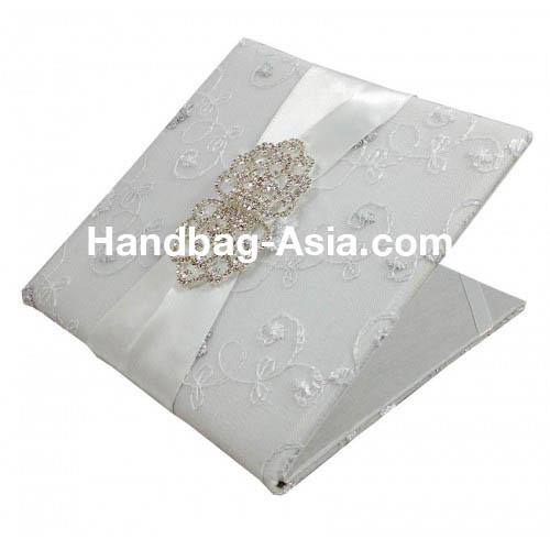 Luxury white lace wedding invitation