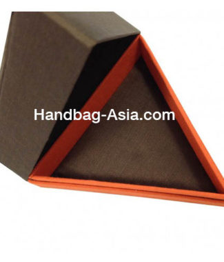Triangle Thai Silk Box With Hinged Lid For Gift & Wedding Favor
