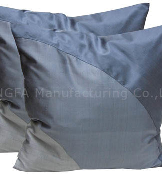 Grey and silver silk pillow cover for home decoration
