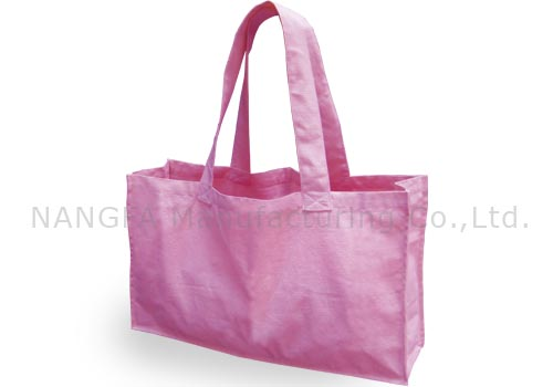 Large pink cotton shopping bags