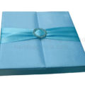 light blue gate fold wedding box