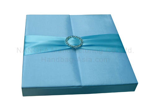 light blue gate fold wedding box