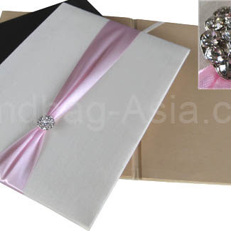 Embellished wedding folder