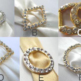 crystal buckle for wedding embellishments