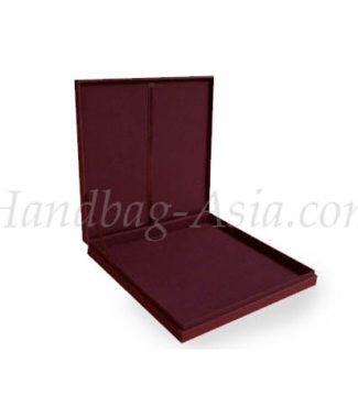 Maroon wedding invitation box