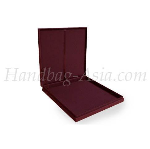 Maroon wedding invitation box