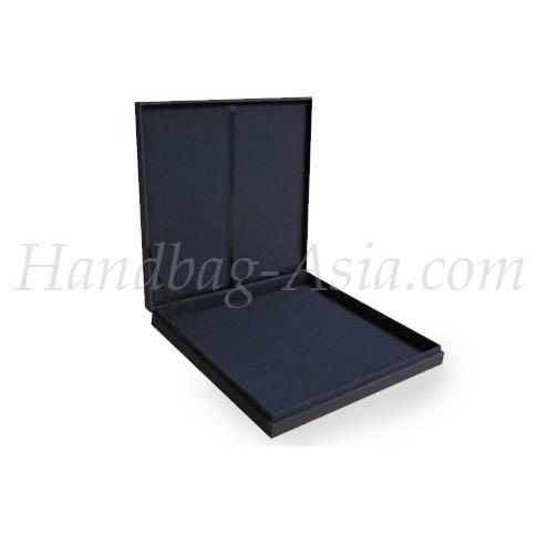 plain black wedding invitation box