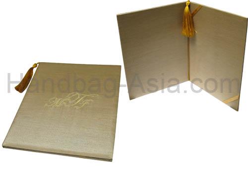 Asian Style Tassel Embellished & Embroidered Wedding Folio