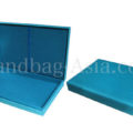Hinged lid wedding box in skyblue
