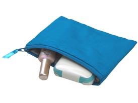 zippered silk cosmetic bag