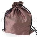 brown silk drawstring bags