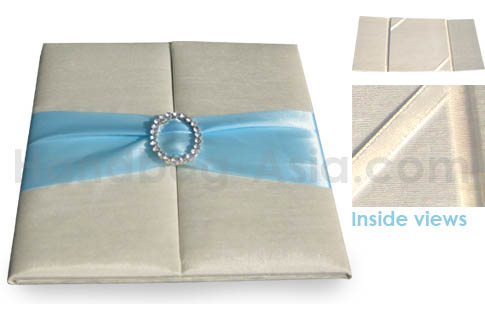 Embellished invitation with buckle