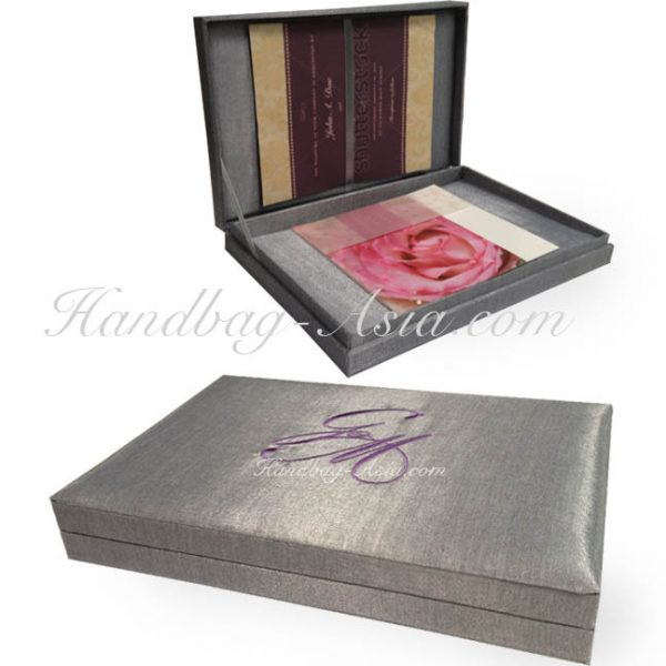 silver hinged lid wedding box