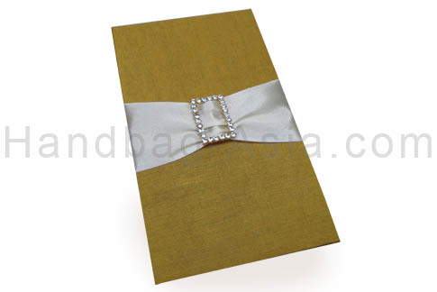Embellished silk pad with buckle and ribbon