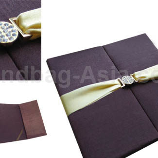 brown silk invitation for luxury invites