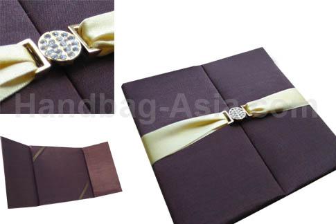brown silk invitation for luxury invites