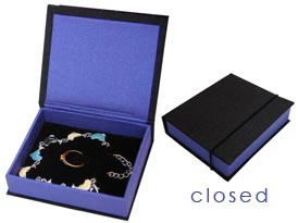 high end silk jewellery box