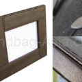 Brown leather picture frame