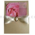 silk card holder with bow and buckle