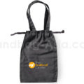 cotton drawstring bag with logo print