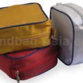Luxury silk travel cosmetic bags