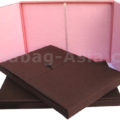 gatefold wedding box in pink and brown
