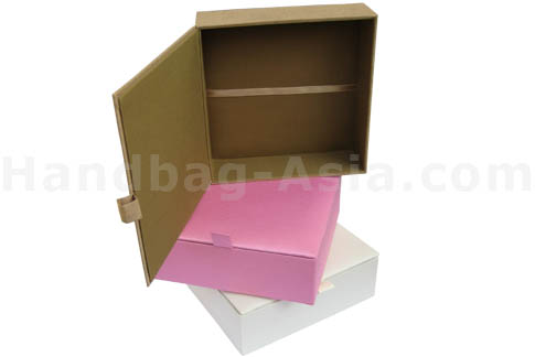 Large silk box with hinged lid and ribbon holder