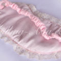 pink silk eye mask with lace