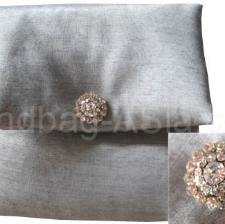 square silk wedding pouch