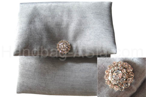 square silk wedding pouch