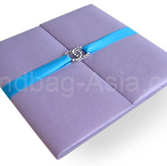 luxury orchid wedding invitation folder for wholesale