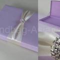 Wedding box in orchid