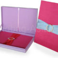 wedding box set with removable invitation holder