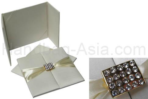 ivory wedding folder
