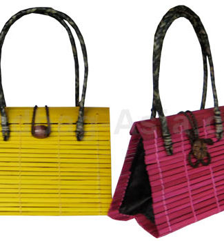 handmade Thai bamboo bag with bamboo shoulder bag