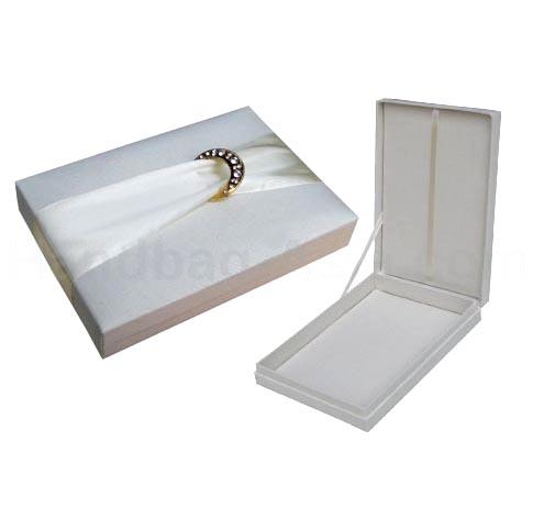 Embellished silk wedding invitation box