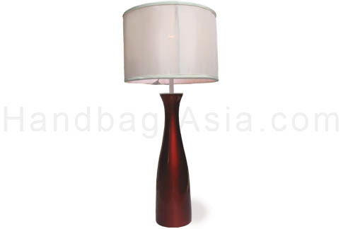 Modern Asian table lamps with silk shade