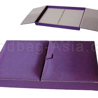 Purple silk box for wedding and invitation cards