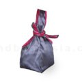 Japanese silk bag with grey silk