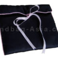satin lingerie bag in deep sky blue