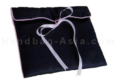 satin lingerie bag in deep sky blue