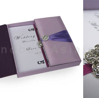 embellished boxed wedding invitation